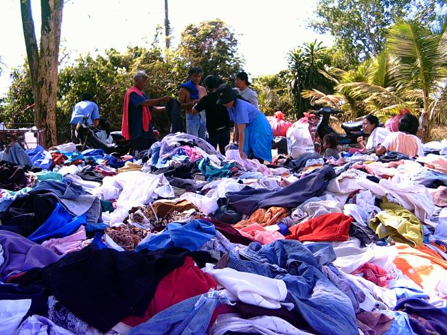 Clothing and aid start to pour in to the refugee camp