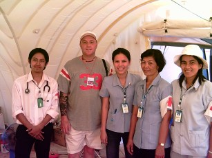 medical team at the refugee camp
