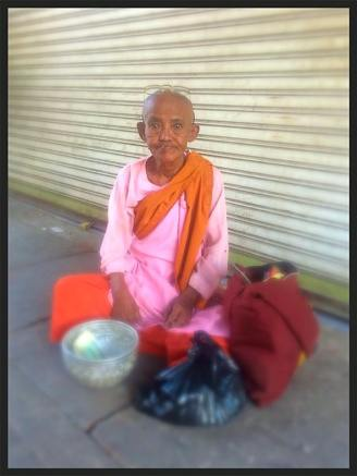 Female Monk - Yangon Street