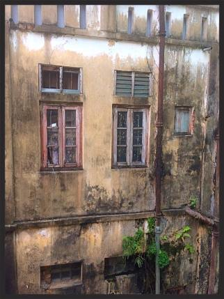 View from the hostel bathroom - Yangon