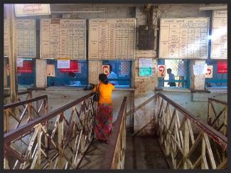 The Ticket Office for the Yangon to Mandalay overnight Express Train