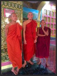 Buddhist Monks at Mandalay Hill