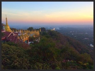 View from Mandalay Hill at Sunset